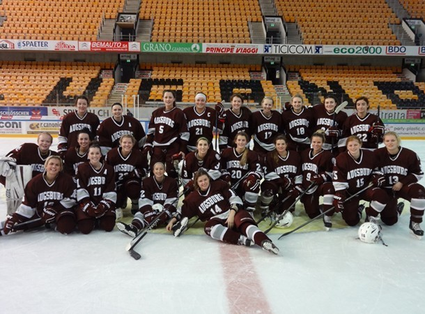 Auggie women's hockey travels to Europe during holiday break
